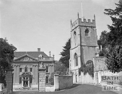 Widcombe Manor and church, Bath, c.1963