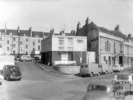 New building on Corn Street, Bath, 1963