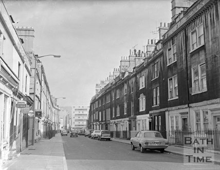View down New King Street, Bath, c.1963
