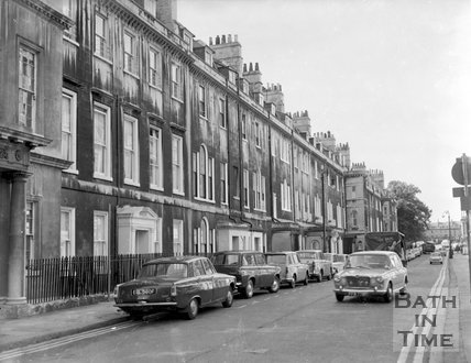View up Brock Street, Bath, c.1963