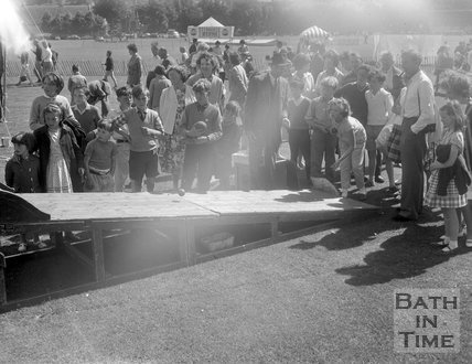 Outdoor skittles on the Recreation Ground, Bath, c.1963