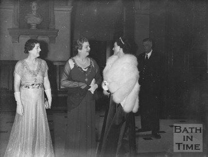 Three grand ladies in the Guildhall, Bath, c.1963