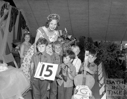 Contestants at an unidentified talent competition in Bath, c.1963