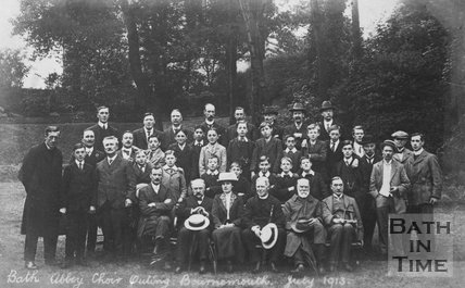 Bath Abbey Choir Outing to Bournemouth, July 1913