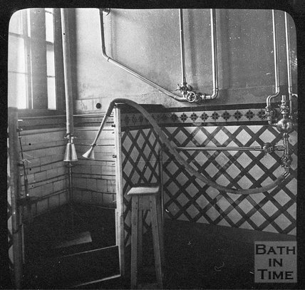 A mineral water shower contraption, Bath, c.1900