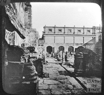 The Roman Great Bath, Bath, c.1890
