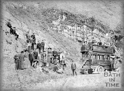 An outing to Cheddar Gorge with Bath Electric Tramways, c.1905