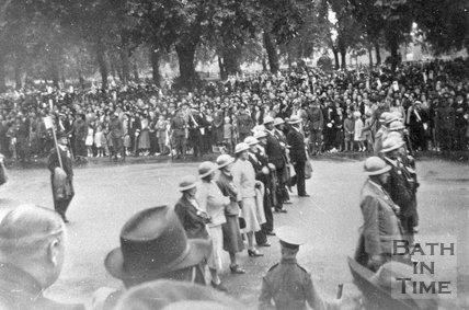 A wartime parade, Royal Victoria Park, Bath, c.1940s