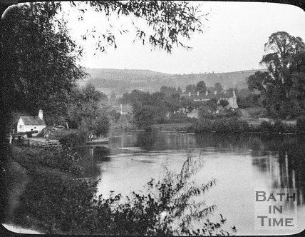 The River Avon, probably at Swineford, near Bath, c.1900