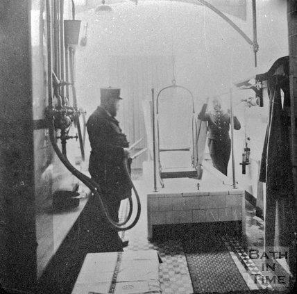 A attendant at the spa treatment centre, Bath, c.1900