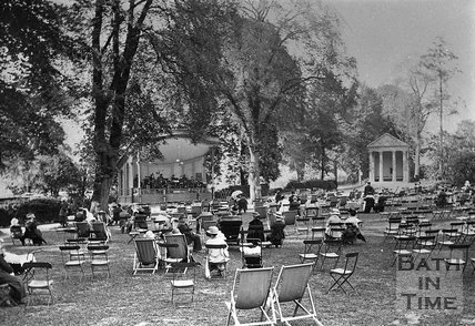 The bandstand in Sydney Gardens, Bath, c.1930s