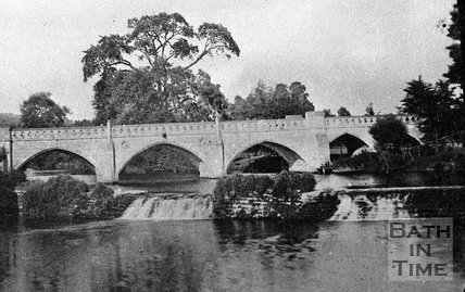 The toll bridge at Bathampton, Bath, c.1900