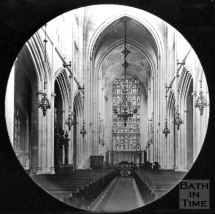 Inside Bath Abbey, c.1880