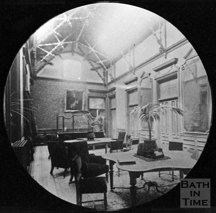 The inside of an unidentified building in Bath, c.1880