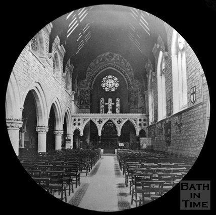 Inside St Johns Church, Bathwick, Bath, c.1880