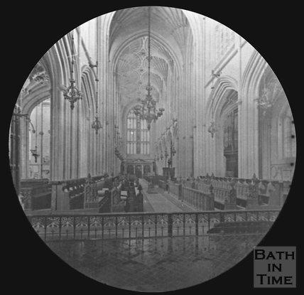 Inside Bath Abbey, Bath, c.1880