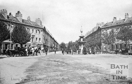 Laura Place & Pulteney Street, Bath, c.1910