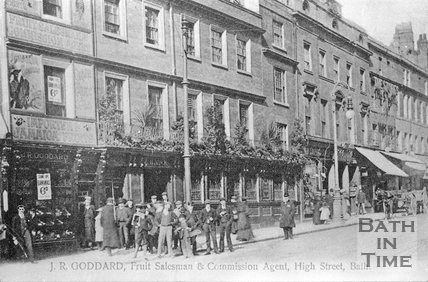 J.R. Goddard, Fruit Salesman & Commission Agent, High Street, Bath, c.1905