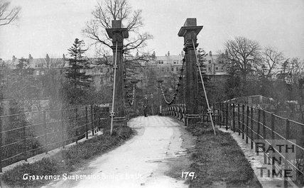 Grosvenor Suspension Bridge, Bath, c.1890