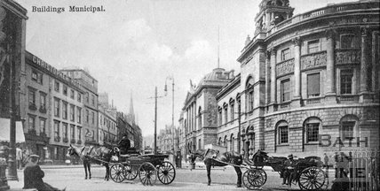The Guildhall and High Street, Bath, c.1900