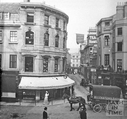 View down Upper Borough Walls, Bath, c.1890