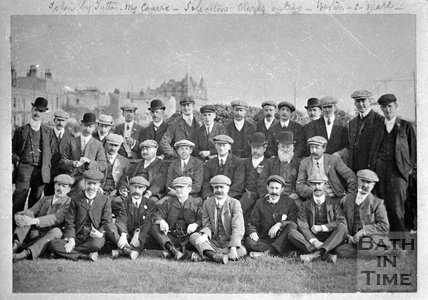 Bath Solicitor's outing to Weston Super Mare, c.1880
