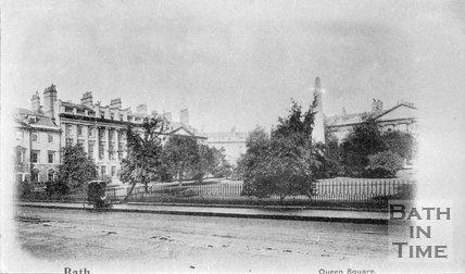 Queen Square, Bath, c.1900