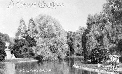 The Lake, Royal Victoria Park, Bath, c.1900