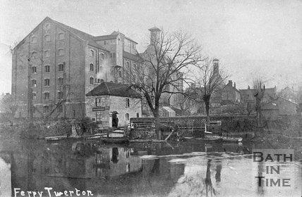 The ferry at Twerton, Bath, c.1900