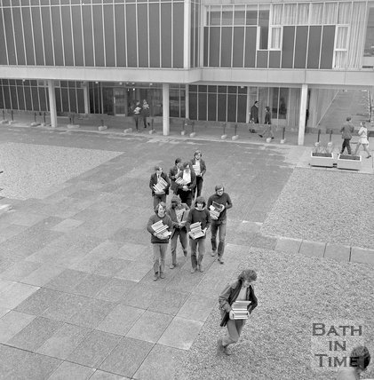 University of Bath Library Move, 11 February 1971
