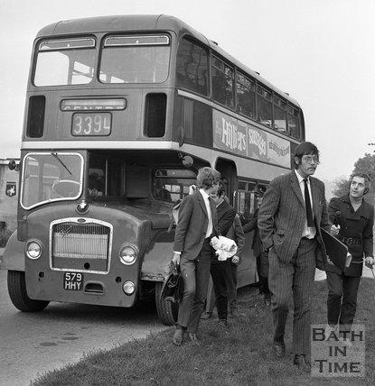 The Bath Bus Strike, Newbridge, Bath, 23 September 1970