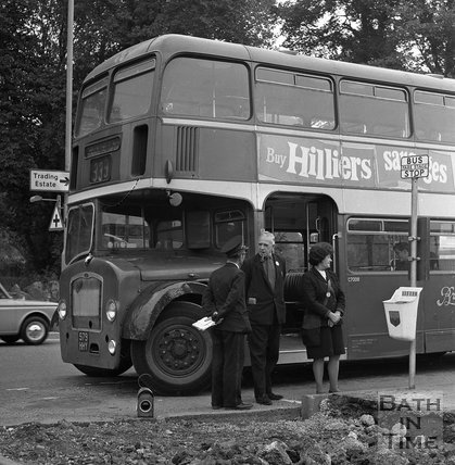 The Bath Bus Strike, Newbridge, Bath, 23 September 1970