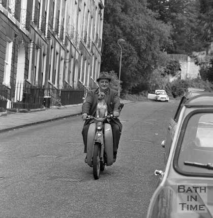 John Roberts and Charlie, Park Street, Bath, 20 September 1970