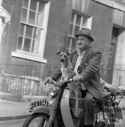 John Roberts and Charlie, Park Street, Bath, 20 September 1970