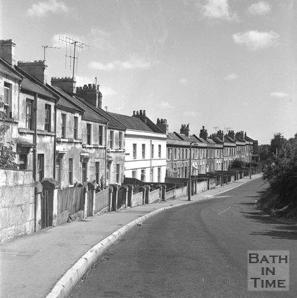Batheaston Relief Road affected areas, Hampton Row, Bath, 14 July 1971