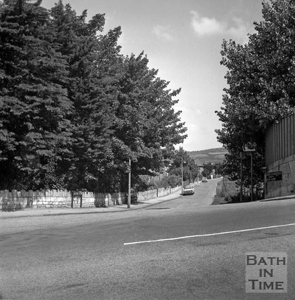 Batheaston Relief Road affected areas, Beckford Gardens and Warminster Road junction, Bath, 14 July 1971