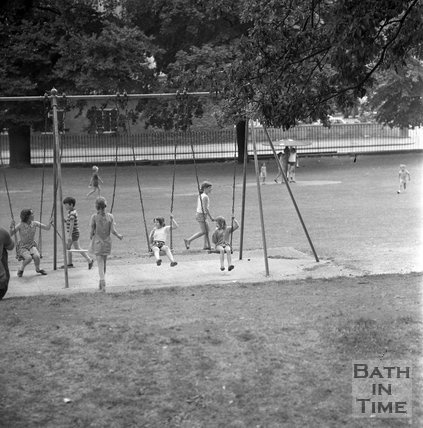 Children playing in Royal Victoria Park, 19 July 1971
