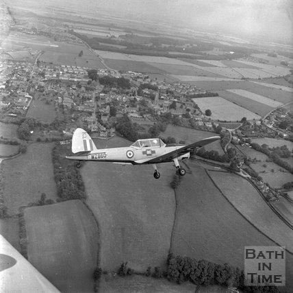 A light aircraft over Colerne, Wiltshire, 25 July, 1971