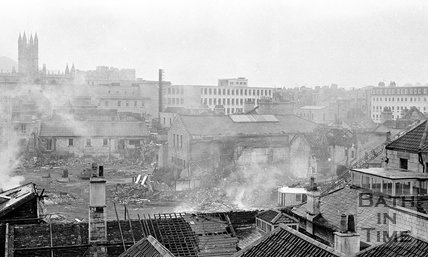 The Demolition of Southgate, Bath, 11 October 1971