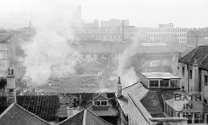 The Demolition of Southgate, Bath, 11 October 1971