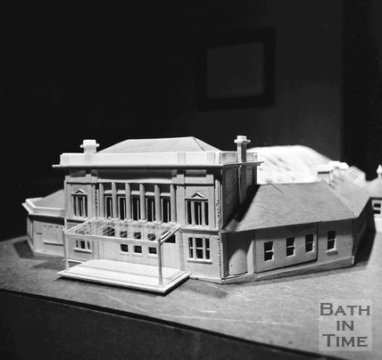 Model of the proposed Green Park Station Development, 17 April 1972