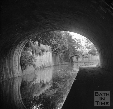 The Kennet and Avon canal in Bath, 5 May 1972