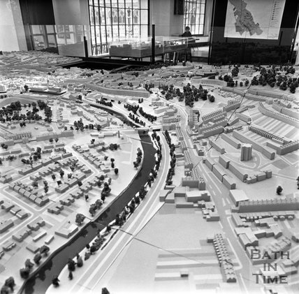 The Bath Model adapted to show the proposed Buchanan tunnel eastern entrance, 8 June 1972