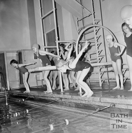 Bath girls junior schools swimming gala, Beau Street Baths, 21 June 1972