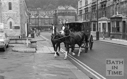 An old Bath Police Wagon on the streets of Bath, 19 July 1972