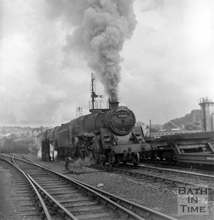 The Pines Express, Engine No 73047 leaving Green Park, Bath, c.1962