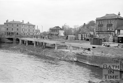 Redeveloping the riverside at Chippenham, Wiltshire, c.1959