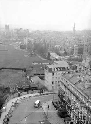 View of Bathwick from the tower of St Mary's Church, c.1962