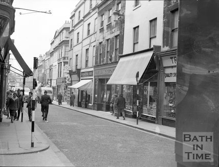 Westgate Street, Bath, showing the Evening Chronicle offices, c.1960s