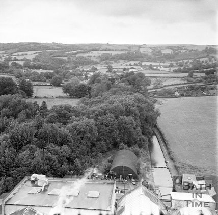 View of St Cuthbert's Mill looking north, Somerset, c.1955